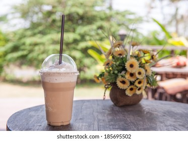 Ice coffee smoothie flavor is sweet and cool.