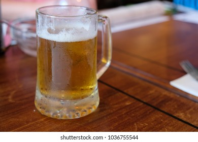 Ice Cold Craft Beer on a table