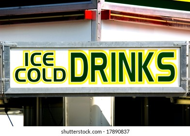 Ice Cold Drinks Sign