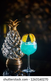 ice cold modern blue cocktail