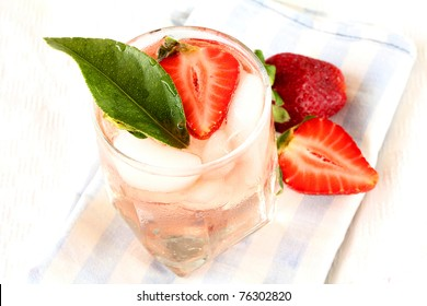 Ice Cold  strawberry cocktail