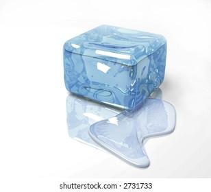 ice cold winter blue water frozen design