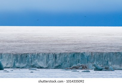 ice covered island of Nordaustlandet in the achipelago of Svalbard