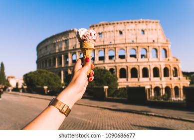 Ice cream in the Coliseum