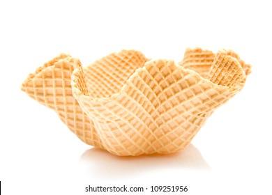 Ice cream cone isolated on white