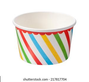 Ice Cream Cup isolated on a white background with a clipping path.