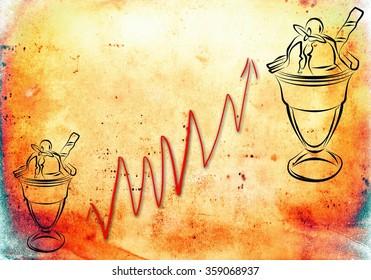 ice cream flat art illustration
