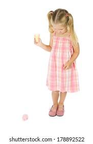Ice Cream: Little Girl Dropped Ice Cream On Floor