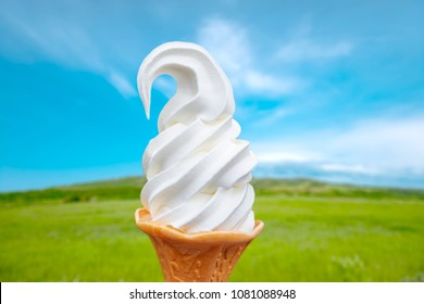 Ice cream made from cold and delicious fresh milk