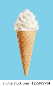 Ice cream on a blue background.