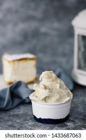 Ice cream with cream pie flavor