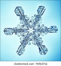 ice crystal snowflake macro