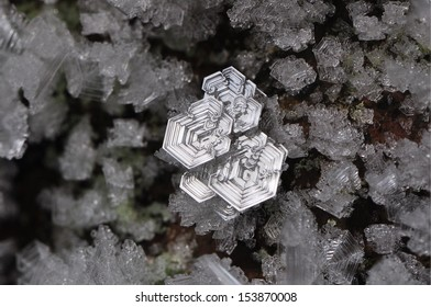Ice crystals inside a mine.