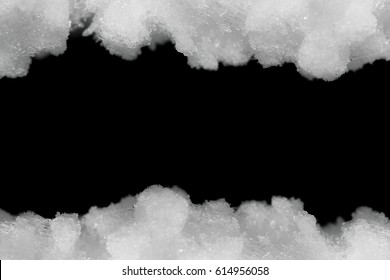 ice crystals on black background
