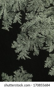 ice crystals on winter glass (frosted glass)