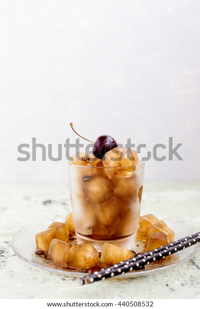 Ice cube of coffee