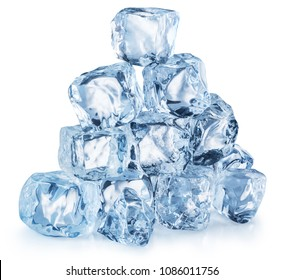 Ice cube pyramid. File contains clipping path.