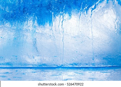 Ice cube texture background, macro water pattern frost. Crystal winter design