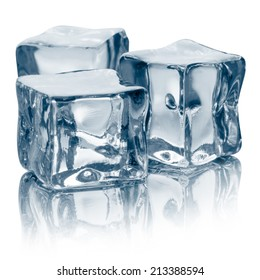 Ice cubes Clipping Path