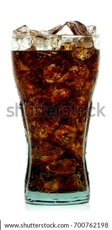 Ice cubes and cola