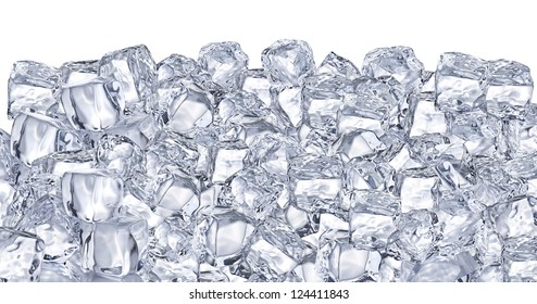 Ice cubes. File contains two clipping path - to the front and the back.