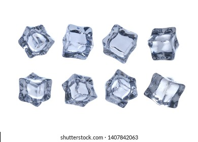ice cubes isolated on clean background