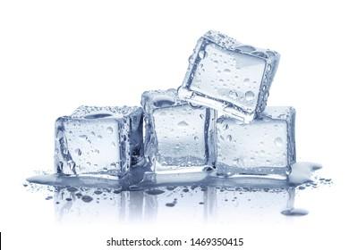 Ice cubes, isolated on white background
