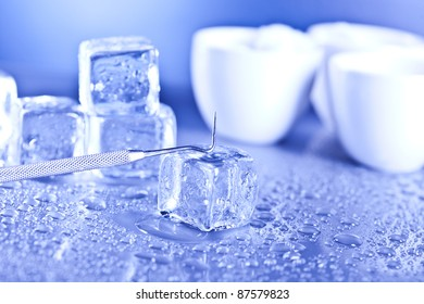 ice cubes and sterile conditions