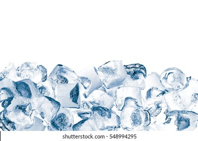 Ice cubes storage, isolated on white. File contains two clipping path - to the front and the back.