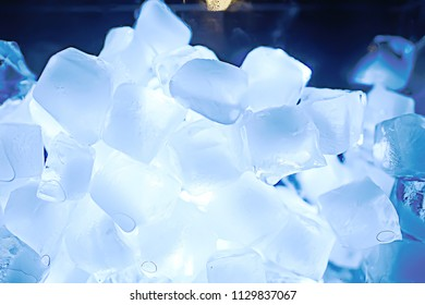 ice cubes texture, blue ice cubes texture, background freshness frost
