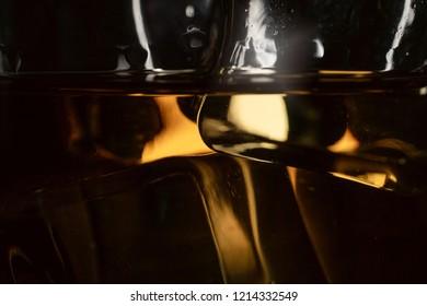 Ice cubes whiskey