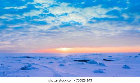 Ice Desert Cold Skies