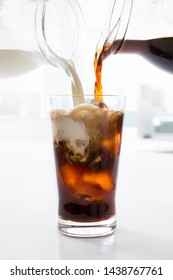 Ice drink image, ice coffee, ice cafe au lait