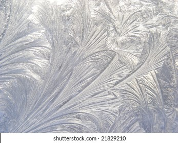 Or ice etched on glass - frost makes terrific patterns