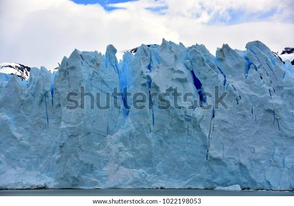 Ice face of Perito Moreno Glacier
