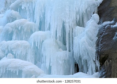 ice fall in mountains in the wild, north China