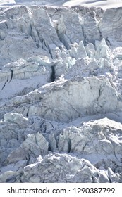 An Ice Fall on a glacier in the mountains