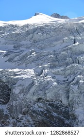 Ice Fall on the Moiry Glacier in the Val d'Anniviers in the Southern Swiss Alps above Grimentz