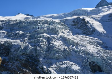 An Ice Fall on the Moiry Glacier above Grimentz in the Southern Swiss Alps