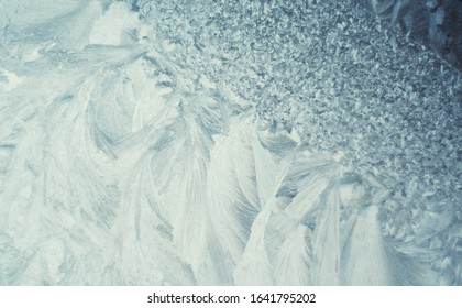 Ice flowers background texture abstract - macro close up view