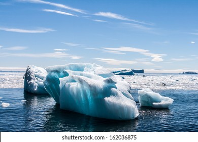 The ice flows and icebergs of Brown Bluff, Antarctica