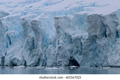 Ice formation on northern coast of Antarctic Peninsula