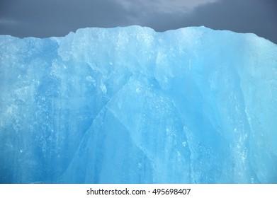 Ice of a glacier vatnajokull