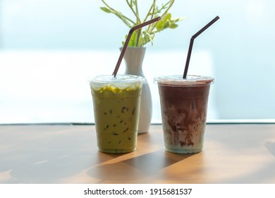 ice green tea and chocolate