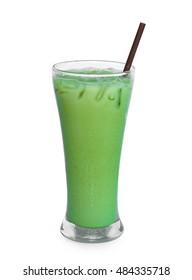 ice green tea isolated on white