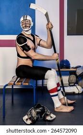 Ice Hockey Body Art