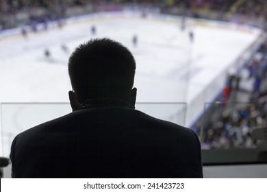 Ice Hockey Game  hockey goals, coaching the goalkeeper,