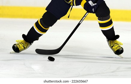 Ice Hockey Player Making a Move