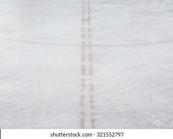 Ice hockey rink markings, winter sport texture