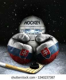 Ice hockey Slovakia concept